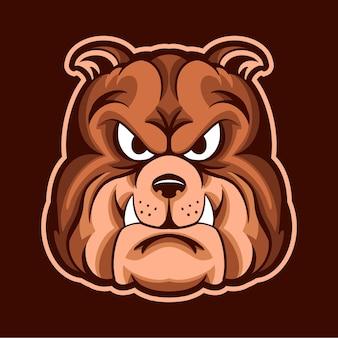Bulldoggenkopfillustrationsentwurf