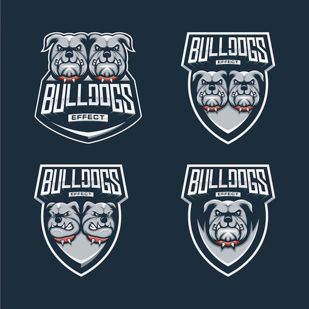 Bulldoggenlogo esports entwurf
