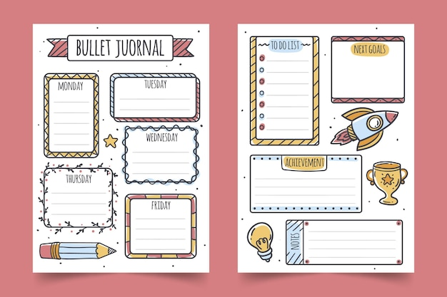 Bullet journal planer sammlung