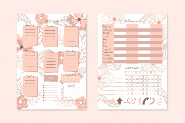 Bullet journal planer vorlage
