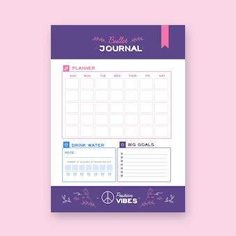 Bullet journal planer vorlage Kostenlosen Vektoren