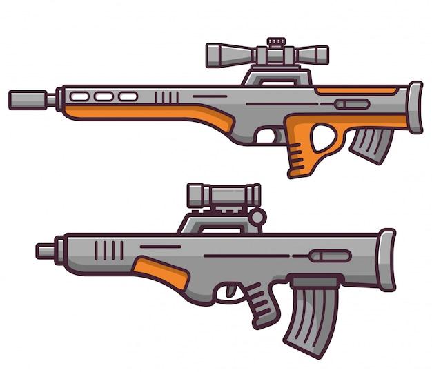 Bullpup schusswaffen scharfschützengewehr.