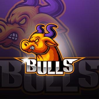 Bulls esport maskottchen logo