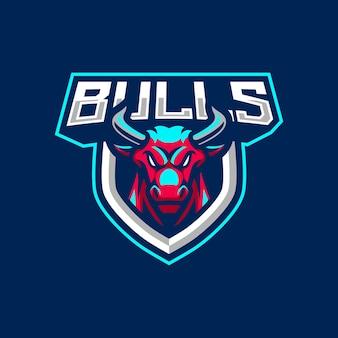 Bulls maskottchen logo design