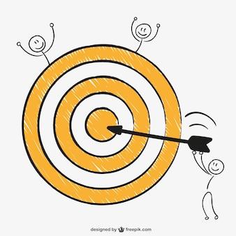 Bullseye perfekten schuss