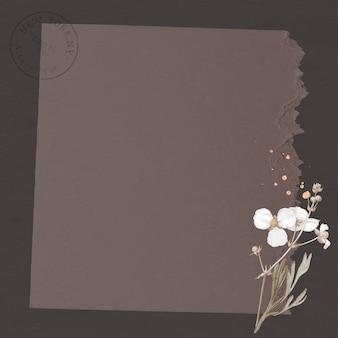 Bulltongue-pfeilspitze auf zerrissenem braunem papierhintergrund