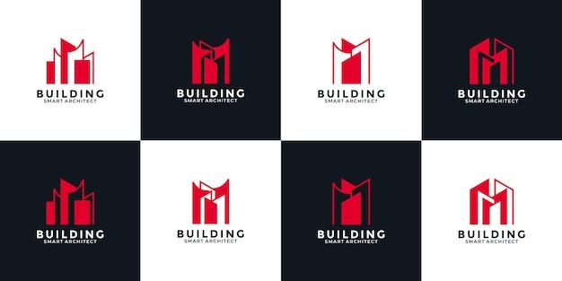 Bundle-set inspiration für das design von immobilien-logos für ihr unternehmen