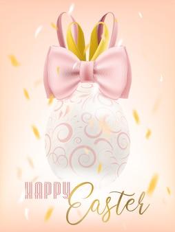 Bunny bow easter egg im konfetti