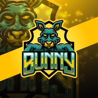 Bunny sport maskottchen logo design