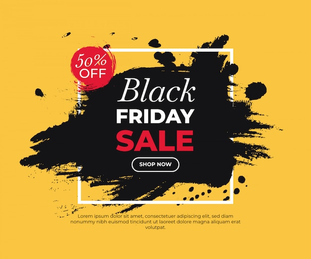 Bunt bemaltes banner für black friday