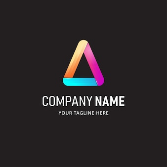 Bunte absract logo design illustration