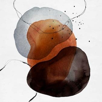 Bunte abstrakte aquarellkreise