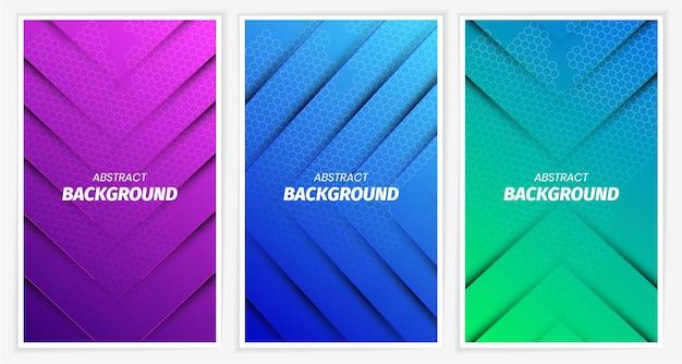 Bunte abstrakte flüssige geometrische farbverlauf pack sammlung pack