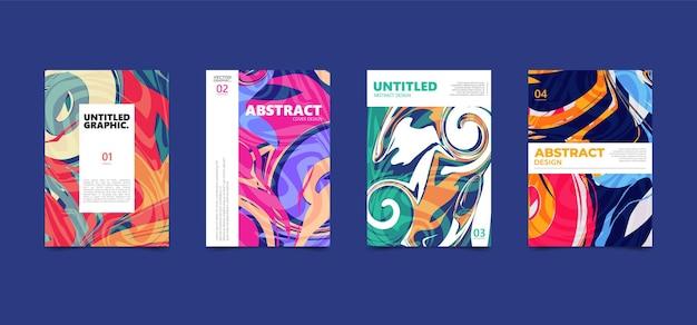 Bunte abstrakte flüssige textur. modernes titelplakat