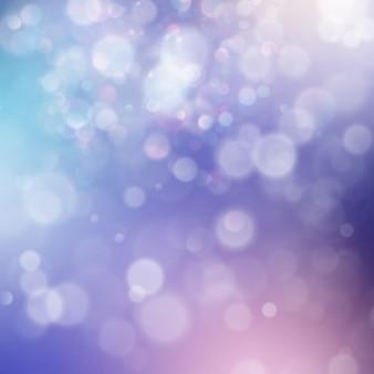 Bunte abstrakte lebendige unschärfe-bokehkreise im hintergrund der weichen farbart. glitzer urlaub lila blau rosa vorlage.