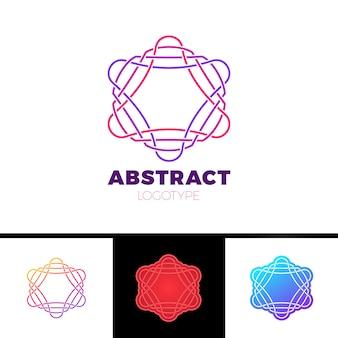 Bunte abstrakte linie sternlogodesign
