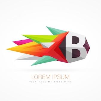 Bunte abstrakte logo mit buchstaben b