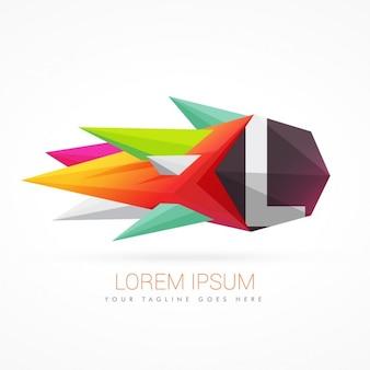 Bunte abstrakte logo mit buchstaben l