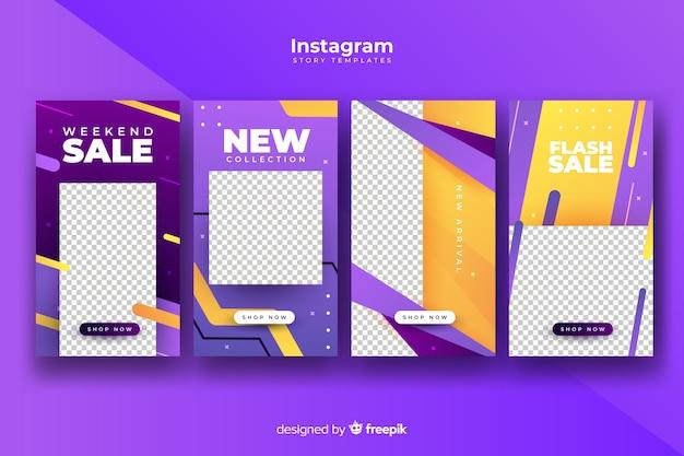 Bunte abstrakte verkauf instagram geschichten