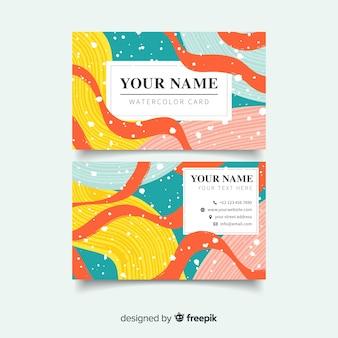 Bunte abstrakte visitenkarte