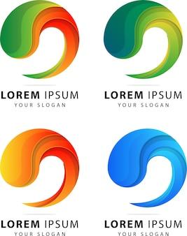 Bunte abstrakte vorlage des logos
