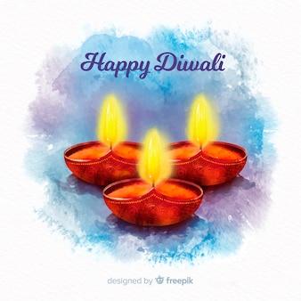 Bunte Aquarell Diwali Zusammensetzung