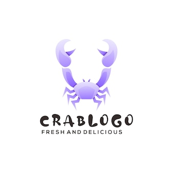 Bunte art der logoillustration krabbensteigung