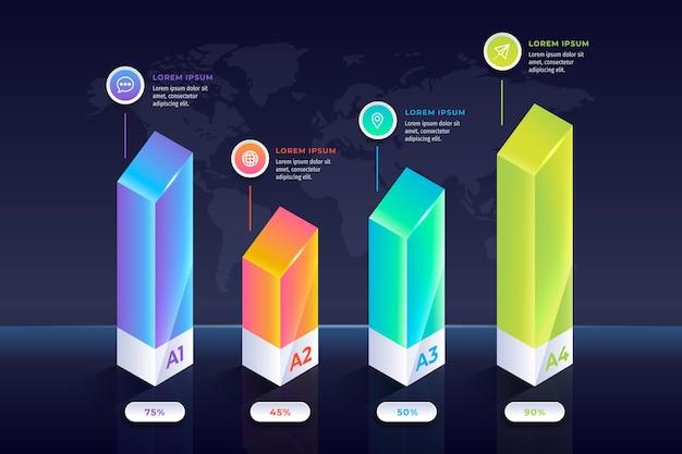 Bunte balken infografik