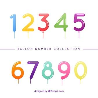Bunte ballon nummer sammlung