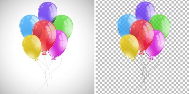 Bunte ballons in einem haufen