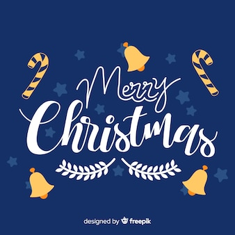 Bunte beschriftung der frohen weihnachten