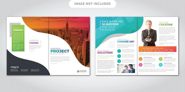 Bunte bi-fold-broschüre