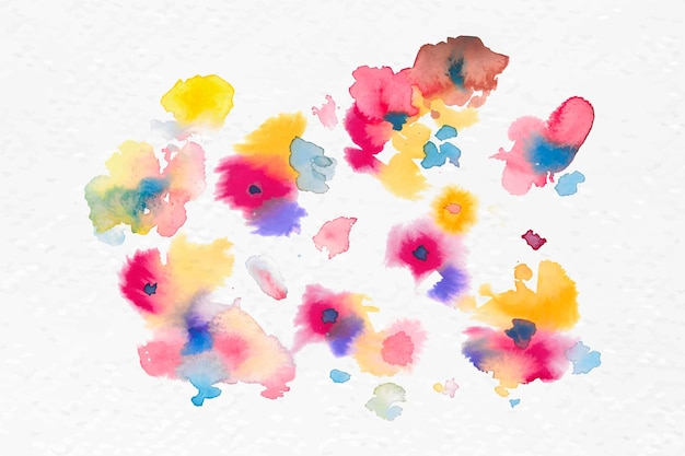 Bunte blumen aquarell vektor frühling saisongrafik