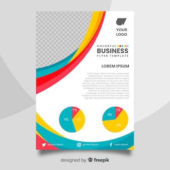 Bunte business-flyer-vorlage