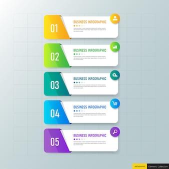 Bunte business-infografiken elemente Premium Vektoren