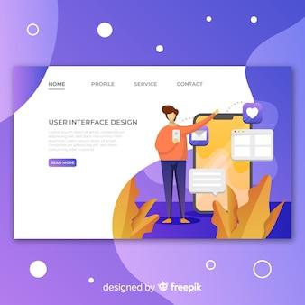 Bunte Business-Startseite