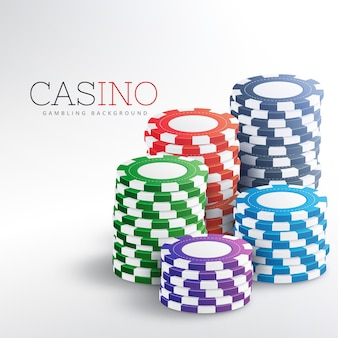 Bunte casino-chips vektor hintergrund