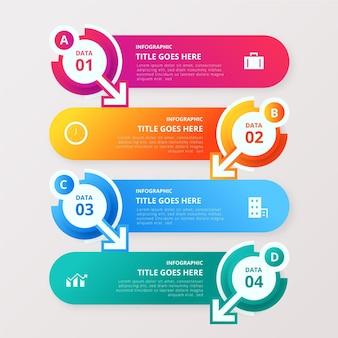 Bunte daten infografik mit details