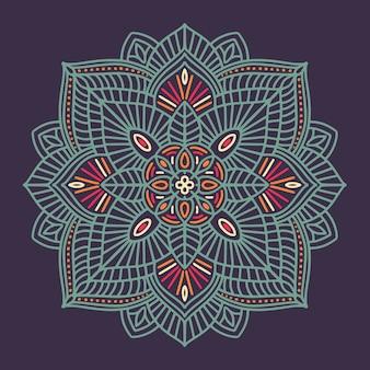 Bunte dekorative ethnische mit blumenmandala