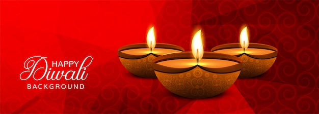 Bunte dekorative fahne diwali-festivals