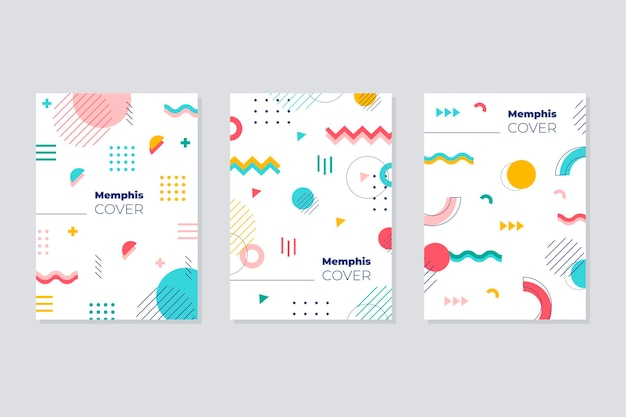 Bunte design-cover-kollektion