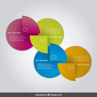Bunte diagramm infografik