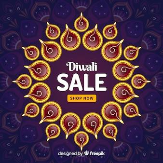 Bunte diwali verkaufszusammensetzung mit flachem design