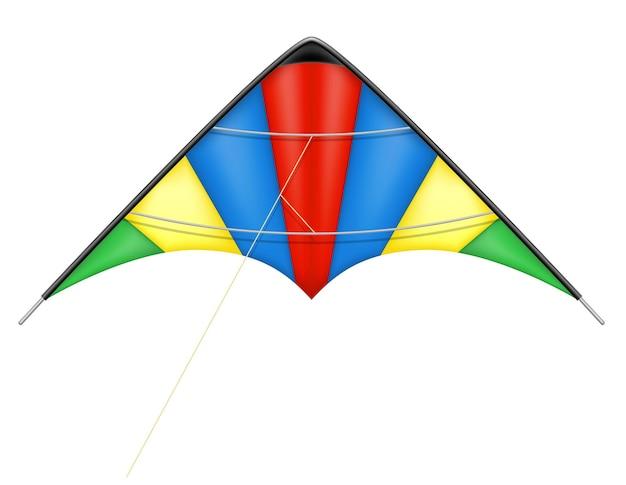Bunte drachenfliegen in der himmelsvektorillustration lokalisiert auf weißem hintergrund Premium Vektoren
