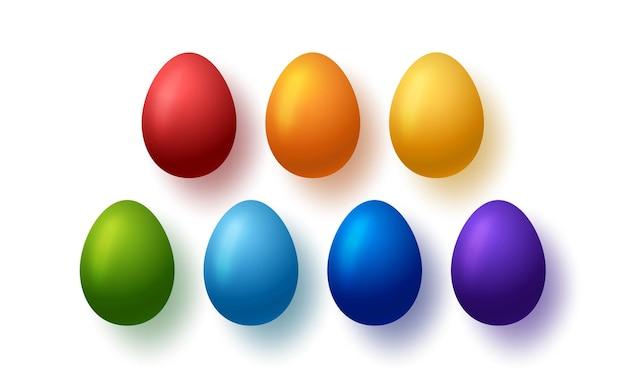 Bunte eier gesetzt