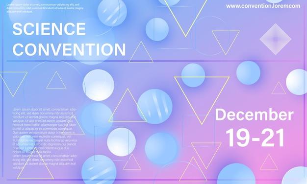 Bunte elemente. konferenzdesign-vorlage. abstraktes design.