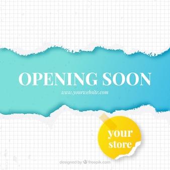 Bunte eröffnung bald komposition mit flachen design