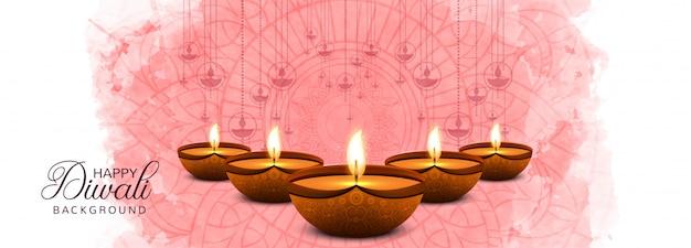 Bunte fahne traditionellen indischen festivals glücklichen diwali