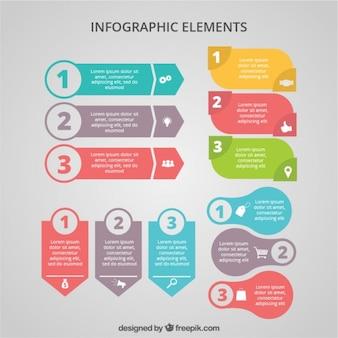 Bunte Fahnen Infografik