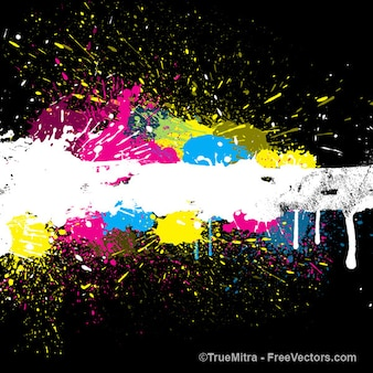 Bunte farbe splash background vector set